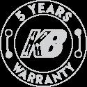 5 Years Warranty